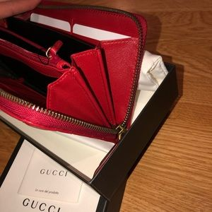 Gucci Bags - GG Marmont zip around wallet
